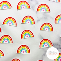 Rainbow Sticker Pack by Lettered by Logann on Etsy