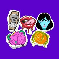 Halloween Sticker Collection by HellagramStickerShop on Etsy